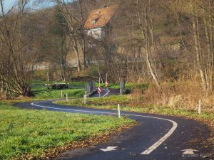 Radweg in Dammbach, Wiesenweg