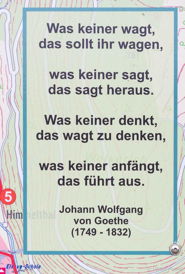 """""""Was keiner wagt""""Gedicht von Goethe"""